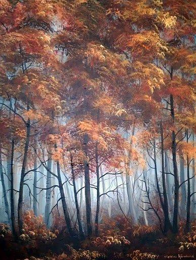 Höstskogsdimma